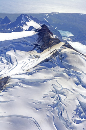 four peaks wilderness: Jagged Peaks and Ice in the Alaska Peninsula of Alaska