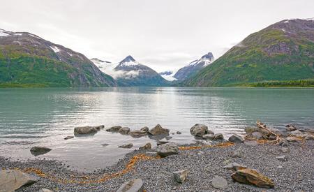portage: Early Morning on a Portage Lake in the Kenai Peninsula of Alaska