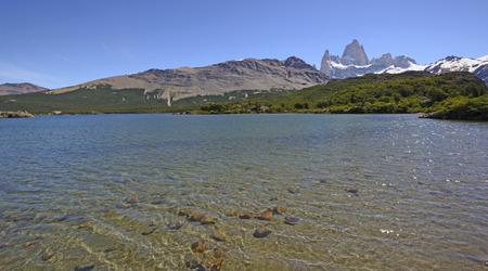 el chalten: Laguna Capri in Los Glaciares National Park in Patagonia near El Chalten in Argentina