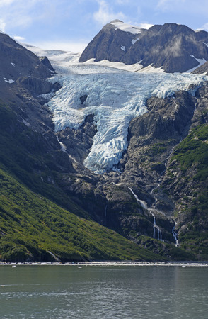 unnamed: Unnamed Glacier Heading to the Ocean in Prince William Sound