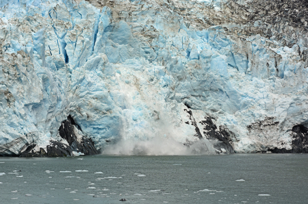 calving: Ice Calving on the Barry Glacier in Prince William Sound