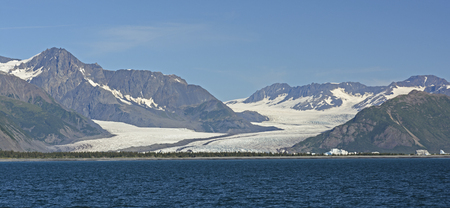 fjords: Bear Glacier viewed from the ocean in Kenai Fjords National Park in Alaska