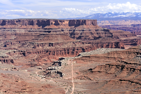 red rocks: Shafer Trail Road into the Red Rocks Country of Canyonlands National Park in Utah