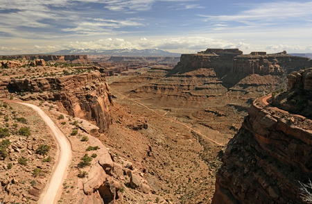 canyonlands national park: Remote Road in the American Southwest in Canyonlands National park in Utah