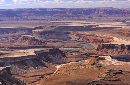 green river: Green River Canyon in Canyonlands National Park in Utah Stock Photo