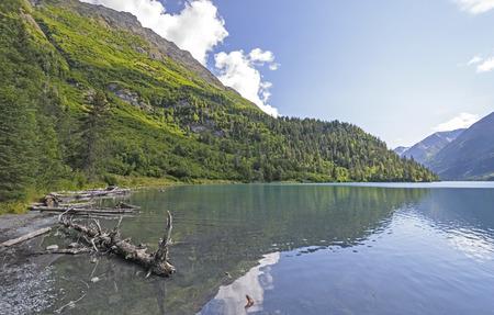 back country: Ptarmigan Lake in the Back Country of the Kenai Peninsula in Alaska Stock Photo
