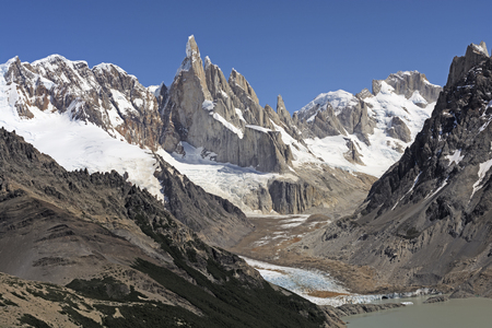 los glaciares: High Peaks of the Southern Andes in Los Glaciares National Park in Argentina