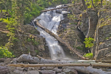 rill: North Twin Falls in Glacier National Park in Montana