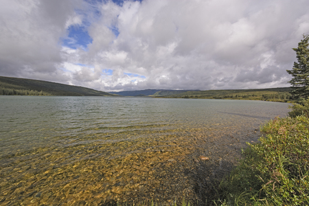 다 나다 국립 공원 알래스카의 툰드라에있는 원더 호수 스톡 콘텐츠