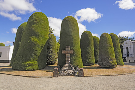 punta arenas: Mariners Memorial in a the Public Cemetery in Punta Arenas, Chile