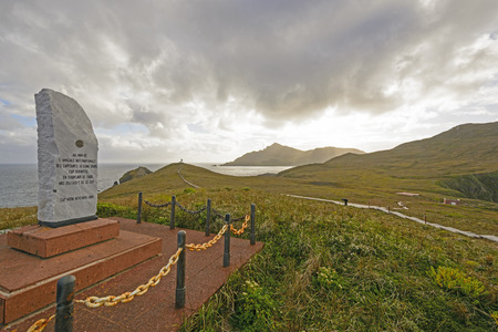 dedication: Cape Horn Monument and Dedication Stone in Tierra del Fuego in Chile