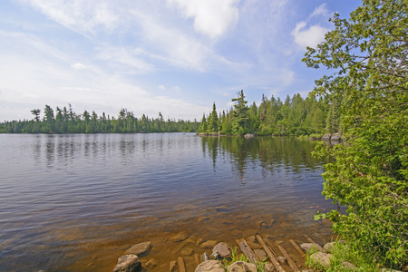 portage: View of from the End of the Portage onto Horseshoe Lake in the Boundary Waters in Minnesota