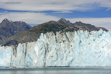 obscuring: Glacial Wall of the Columbia Glacier Obscuring the Chugach Mountains in Alaska