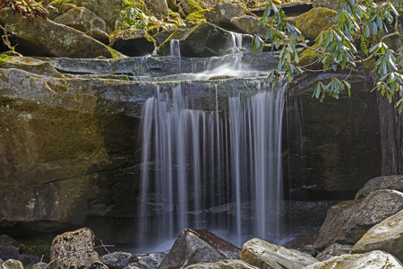 great smoky mountains: Tiny Falls in the Great Smoky Mountains in Tennessee