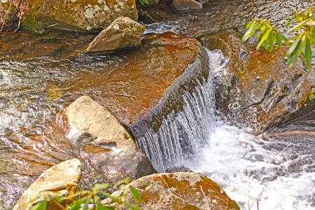 great smoky mountains: Small Cascade in a Mountain Stream in the Great Smoky Mountains in Tennessee Stock Photo