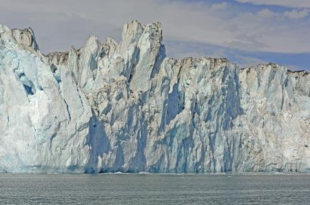alaska scenic: Ice Front of the Tidal Columbia Glacier In Alaska Stock Photo
