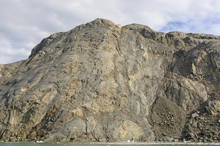 recedes: Bare Rock after a Glacier Recedes near the Columbia Glacier in Alaska Stock Photo