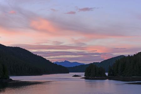 sitka: Twilight on the Inside Passage near Sitka, Alaska