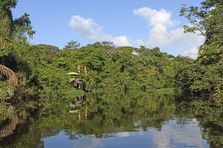 secluded: Remote Research Station in the Rain Forest on Tortuguero National Park in Costa Rica