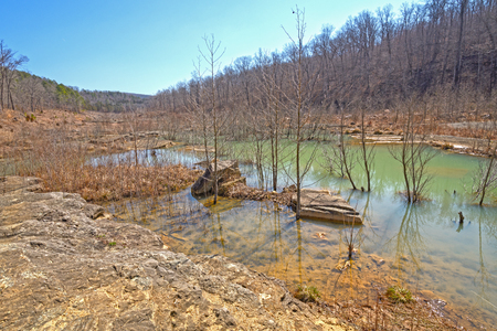 River Valley After a Flood in Johnsons Shut-ins State Park in Missouri