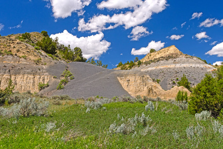 Colorful Clay in the Badlands of Theodore Roosevelt National Park in North Dakota