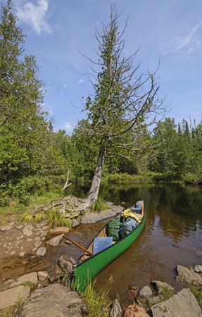 Packed and Ready to Go on Ham Lake in the Boundary Waters Canoe Wilderness in Minnesota