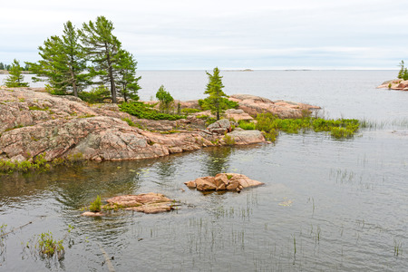 Looking out to Georgian Bay on the Chikanishing Trail in Killarney Provincial Park