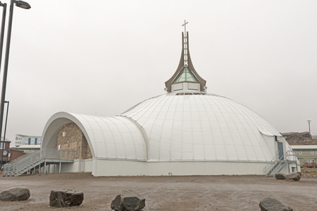 Igloo Shaped Church in Iqaluit, Nunavut in Canada