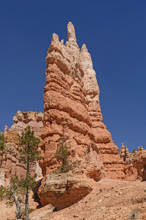 Dramatic Spire in the Mountains of Bryce Canyon National Park in Utah