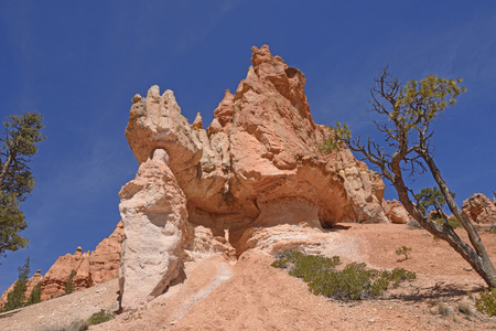 Barren Outcrop in the Mountains of Bryce Canyon National Park in Utah