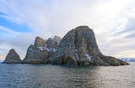 Dramatic Island in the High Arctic near SunneshineFjord on Baffin Island in Nunavut, Canada