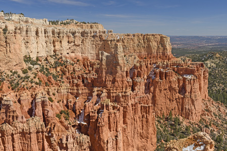 Colorful Cliffs in the Mountains in Bryce Canyon National Park in Utah Stock Photo