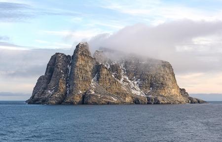 Coastal Clouds on a Barren Island near Baffin Island in Nunavut, Canada