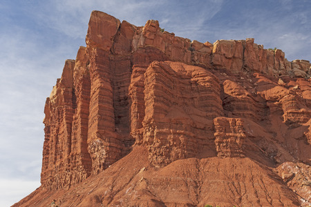 Egyptian Temple on a Sunny Day in Capitol Reef National Park in Utah
