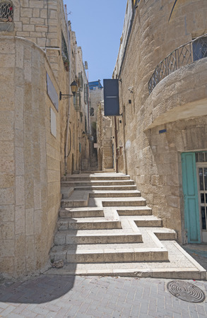 Unique Alley Staircase in Bethlehem, Israel Stock fotó
