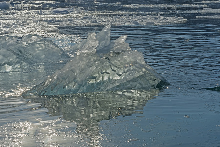 LIght Shining through an Iceberg near the Equip Glacier in Western Greenland