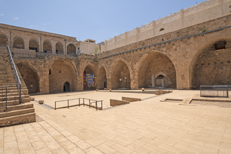 Main Courtyard of an old Fortress in Acre, Asrael Archivio Fotografico