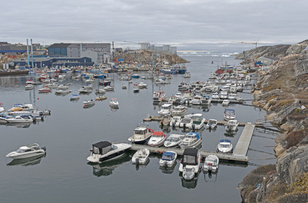 The Harbor of Ilulissat, Greenland in the late Fall