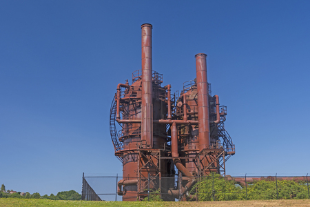 Old Industrial Equipment for Coal Gasification  in a  Gas Works Park in Seattle
