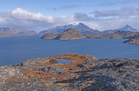 Barren Mountains in Fall in the Remote Arctic near, Itilleq, Greenland Stock Photo