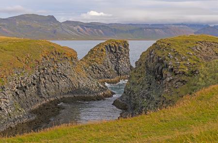 Hidden Cove of Lava Rocks on the Coast near Arnarstapi; Iceland