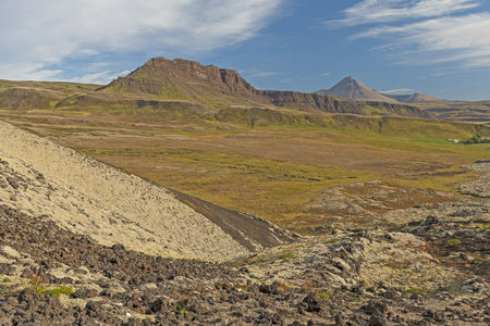 Volcanic Landscape in the Countryside near Grabrok, Iceland