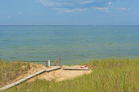 Path to a Beautiful Lake on Lake Michigcan near Montague, Michigan