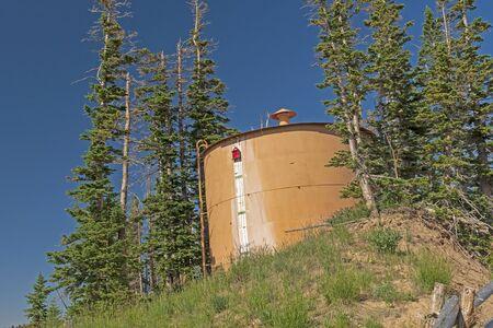 Water Storage Tank at the High Point in Cedar Breaks National Monument in Utah