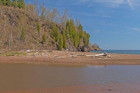Sandbar on the Gooseberry River Mouth into Lake Superior