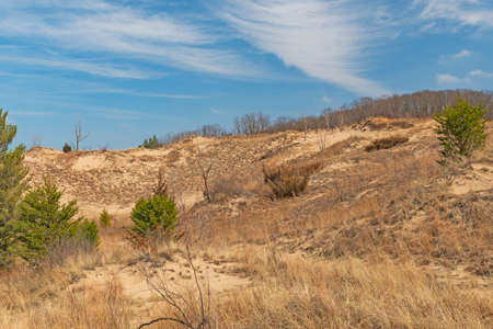 Spectacular Clouds Above the Sand Dunes in Indiana Dunes National Park in Indiana
