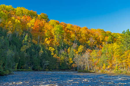 Fall Colors Above the Menominee River in Northern Michigan