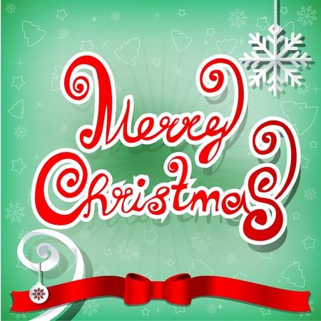christmas greeting card: Christmas greeting card, vector illustration Illustration