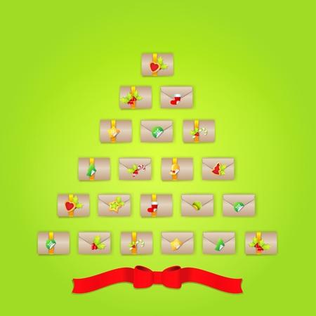 advent calendar: Christmas Advent calendar.