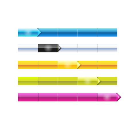 Tasti di menu web di vettore impostate per business testo eps 10